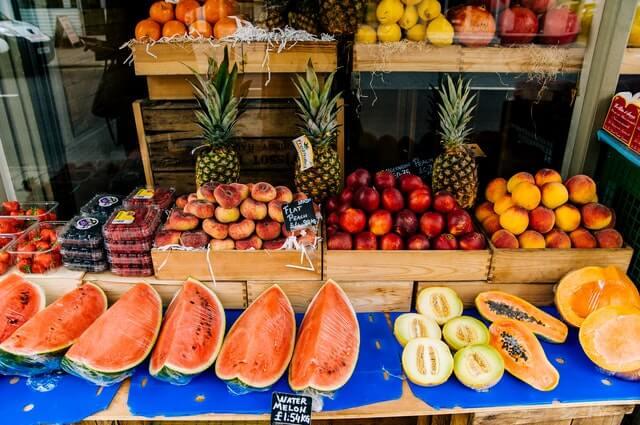 gesunde Früchte auf dem Markt
